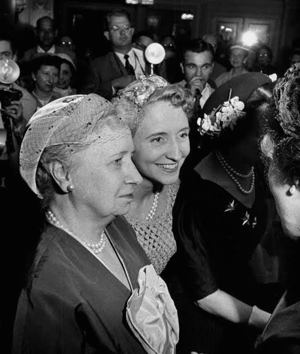 If encountering the press while in the company of her daughter, Bess Truman usually remained silent and let Margaret speak. (Life)