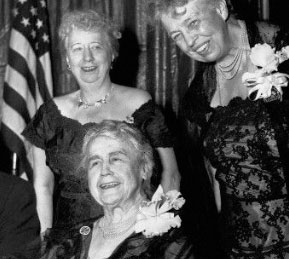 Bess Truman with Edith Wilson and Eleanor Roosevelt. (UPI)